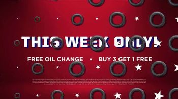 Big O Tires July Fourth Spectacular Savings Event TV Spot, 'Buy Three, Get One Free: Oil Change' - Thumbnail 7