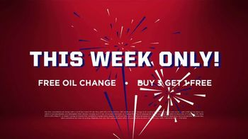 Big O Tires July Fourth Spectacular Savings Event TV Spot, 'Buy Three, Get One Free: Oil Change' - Thumbnail 8