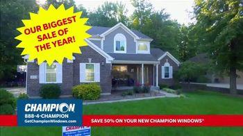 Champion Windows Stimulus Plan TV Spot, '50 Percent Off Windows' - Thumbnail 1