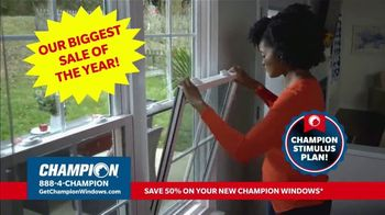 Champion Windows Stimulus Plan TV Spot, '50 Percent Off Windows'