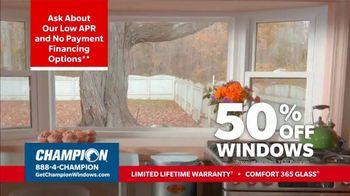 Champion Windows Stimulus Plan TV Spot, '50 Percent Off Windows' - Thumbnail 4