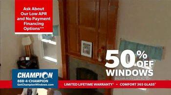 Champion Windows Stimulus Plan TV Spot, '50 Percent Off Windows' - Thumbnail 5