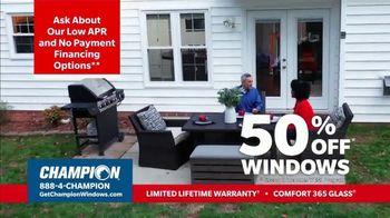 Champion Windows Stimulus Plan TV Spot, '50 Percent Off Windows' - Thumbnail 6
