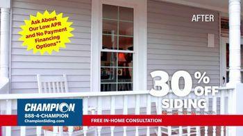 Champion Siding Stimulus Plan TV Spot, 'The Best Time: 30 Percent Off' - Thumbnail 4