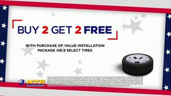 NTB July 4th Super Stack Sales Event TV Spot, 'Buy Two, Get Two' - Thumbnail 2