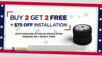 NTB July 4th Super Stack Sales Event TV Spot, 'Buy Two, Get Two' - Thumbnail 3
