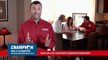 Champion Windows Champion Stimulus Plan TV Spot, 'Every Aspect of the Process'
