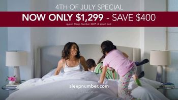 Sleep Number Lowest Prices of the Season TV Spot, '4th of July Special: Only $1,299: Save $400' - Thumbnail 9