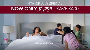 Sleep Number Lowest Prices of the Season TV Spot, '4th of July Special: Only $1,299: Save $400' - Thumbnail 8