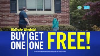 Wallside Windows TV Spot, 'Limited Time: Buy One, Get One Free'