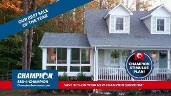 Champion Sunrooms Stimulus Plan TV Spot, '30 Percent Off Sunrooms'