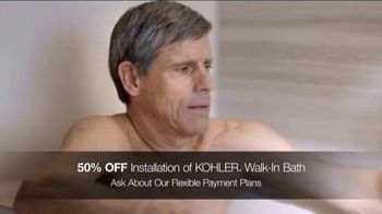 Kohler TV Spot, 'Walk-In Bath: 50 Percent Off Installation and Virtual Appointments' - Thumbnail 4