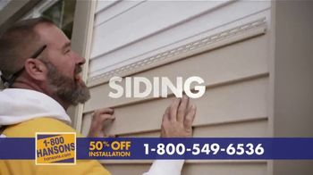 1-800-HANSONS TV Spot, 'Your Home: 50% Off and Virtual Estimate' - Thumbnail 5