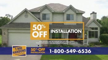 1-800-HANSONS TV Spot, 'Your Home: 50% Off and Virtual Estimate' - Thumbnail 7