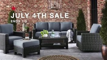 Macy's July 4th Sale TV Spot, 'Outdoor Sofa, Sectional and Mattress'