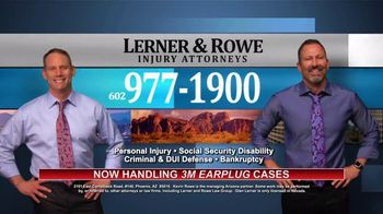 Lerner and Rowe Injury Attorneys TV Spot, 'Now Handling 3M Earplug Cases' - Thumbnail 10