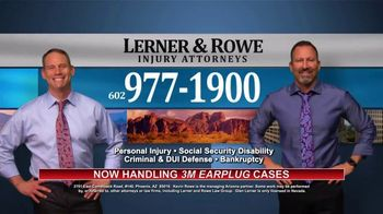 Lerner and Rowe Injury Attorneys TV Spot, 'Now Handling 3M Earplug Cases' - Thumbnail 8