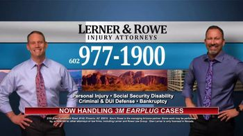 Lerner and Rowe Injury Attorneys TV Spot, 'Now Handling 3M Earplug Cases' - Thumbnail 9