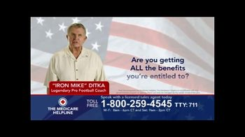 The Medicare Helpline TV Spot, 'Benefits' Featuring Mike Ditka