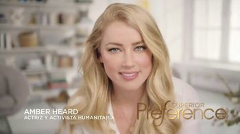 L'Oreal Paris Superior Preference TV Spot, 'Un rubio increíble' con Amber Heard [Spanish]