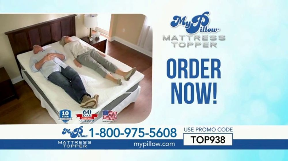 My Pillow Mattress Topper TV Commercial, '30 Percent Off and Two Standard MyPillows Free'