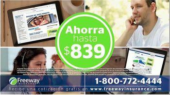 Freeway Insurance TV Spot, 'Seguro de auto: ahorra hasta $839 dólares' [Spanish] - Thumbnail 3