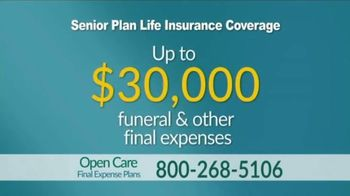 Open Care Insurance Services Final Expense Plan TV Spot, 'At Peace: $30,000' - Thumbnail 5