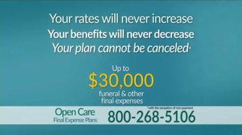 Open Care Insurance Services Final Expense Plan TV Spot, 'At Peace: $30,000' - Thumbnail 6