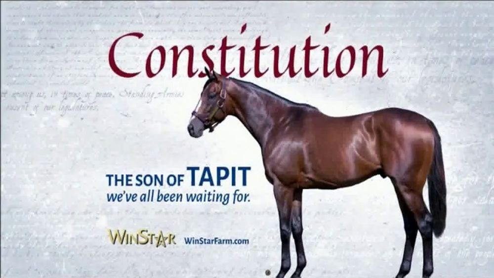 WinStar Farm, LLC TV Commercial, 'Constitution: What We've Been Waiting For'
