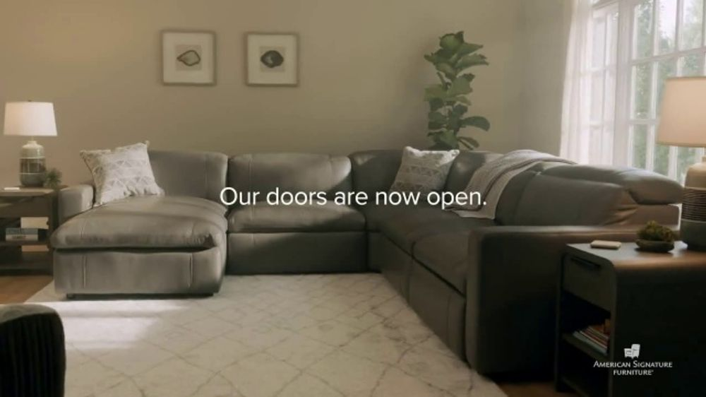 American Signature Furniture TV Commercial, 'Our Doors are Open'