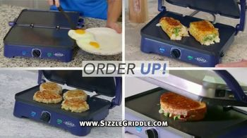 Blue Diamond Sizzle Griddle TV Spot, 'The Secret Is the Sizzle: Grill Plates $15 Each'