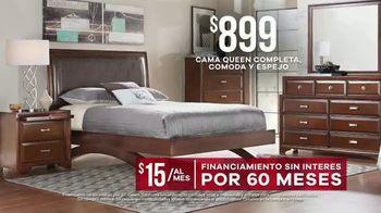 Rooms to Go Venta de Memorial Day TV Spot, 'Cama queen completa' [Spanish] - Thumbnail 5