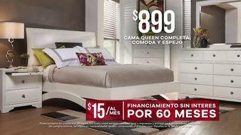 Rooms to Go Venta de Memorial Day TV Spot, 'Cama queen completa' [Spanish] - Thumbnail 6