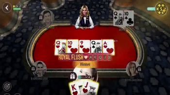 Zynga Poker TV Spot, 'Fun and Competitive Poker Action' - Thumbnail 6