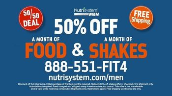 Nutrisystem for Men 50/50 Deal TV Spot, 'Lose Weight Without Leaving the House: Up to 18 Pounds' - Thumbnail 10