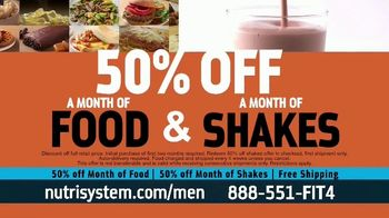 Nutrisystem for Men 50/50 Deal TV Spot, 'Lose Weight Without Leaving the House: Up to 18 Pounds'