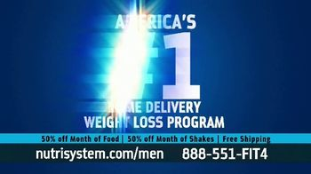 Nutrisystem for Men 50/50 Deal TV Spot, 'Lose Weight Without Leaving the House: Up to 18 Pounds' - Thumbnail 4