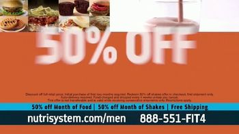 Nutrisystem for Men 50/50 Deal TV Spot, 'Lose Weight Without Leaving the House: Up to 18 Pounds' - Thumbnail 9