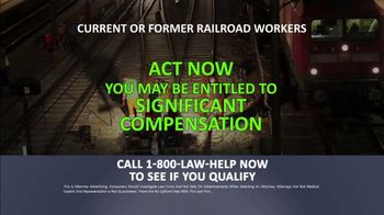1-800-LAW-HELP TV Spot, 'Railroad Workers: Cancer' - Thumbnail 7