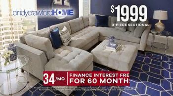 Rooms to Go Memorial Day Sale TV Spot, 'Cindy Crawford Home Three-Piece Sectional' - Thumbnail 4