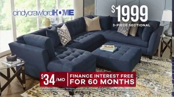 Rooms to Go Memorial Day Sale TV Spot, 'Cindy Crawford Home Three-Piece Sectional' - Thumbnail 5