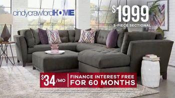 Rooms to Go Memorial Day Sale TV Spot, 'Cindy Crawford Home Three-Piece Sectional' - Thumbnail 6