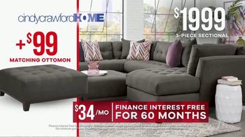 Rooms to Go Memorial Day Sale TV Spot, 'Cindy Crawford Home Three-Piece Sectional' - Thumbnail 7
