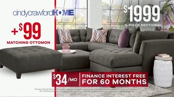 Rooms to Go Memorial Day Sale TV Spot, 'Cindy Crawford Home Three-Piece Sectional' - Thumbnail 8
