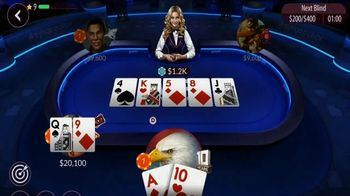 Zynga Poker TV Spot, 'WPT Tournament Center' Featuring Tony Dunst, Vince Van Patten