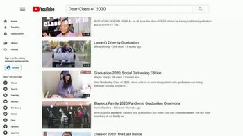 YouTube TV Spot, 'Celebrating the Class of 2020: Graduate With Me' - 7 commercial airings