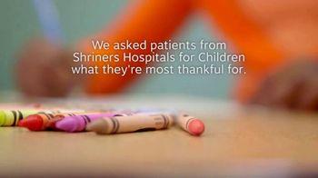 Shriners Hospitals for Children TV Spot, 'Thankful' - Thumbnail 1