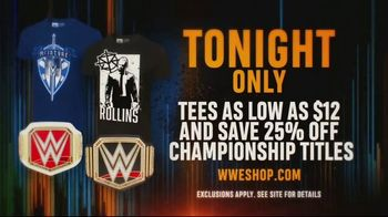 WWE Shop TV Spot, 'Bring It On: Tees As Low As $12 and 25% Off Championship Titles' - Thumbnail 8