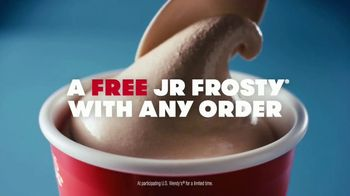 Wendy's Jr. Frosty TV Spot, 'Free With Any Order'