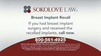 Sokolove Law TV Spot, 'Breast Implant Recall' - Thumbnail 6
